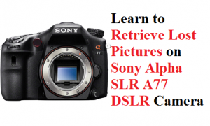 Retrieve Lost Pictures on Sony Alpha SLR A77 DSLR